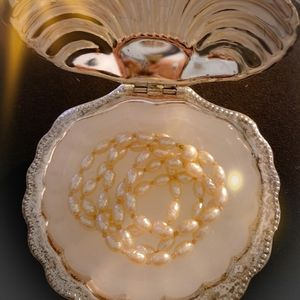 Pearl necklace in the shell